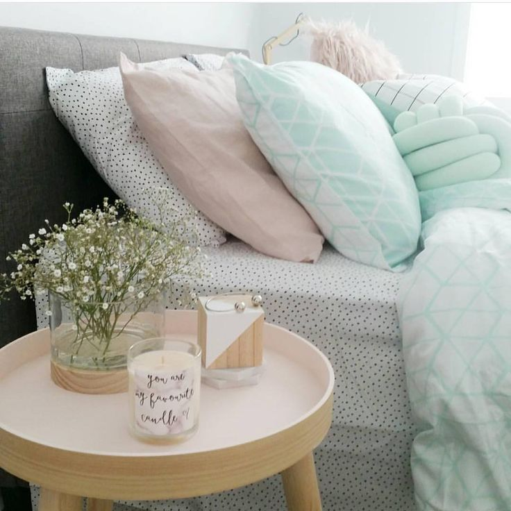 Pink Stockholm as styled by @sophyemily  also the wood based hurricane. Looks perfect paired with the mint linen. Thank you for the tag  #Kmart #kmartnz #kmartaus #kmarthome #bedroominspo #bedroomstyle #pastel #babybreath #minimalist #minimaliststyling