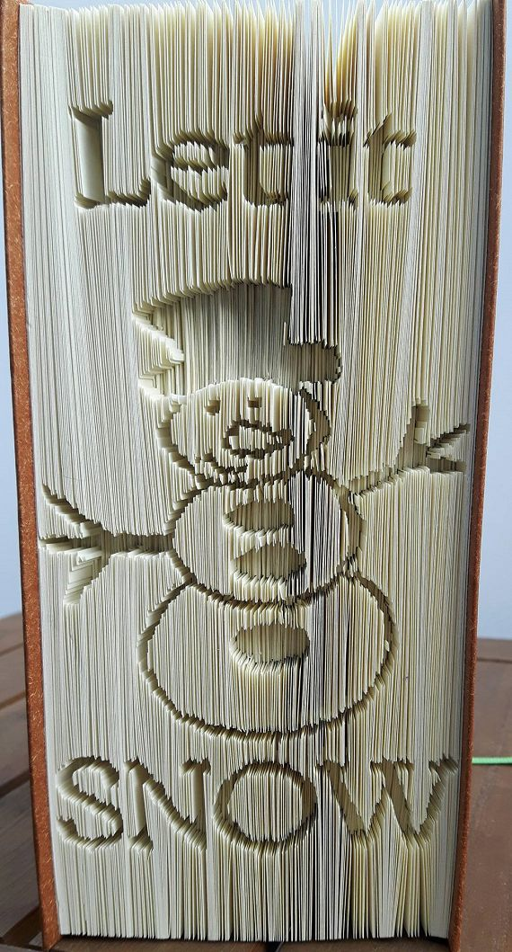 Let it Snow Snowman Book Folding Pattern https://www.totallytemplates.co.uk/product/let-it-snow-snowman-book-folding-pattern/