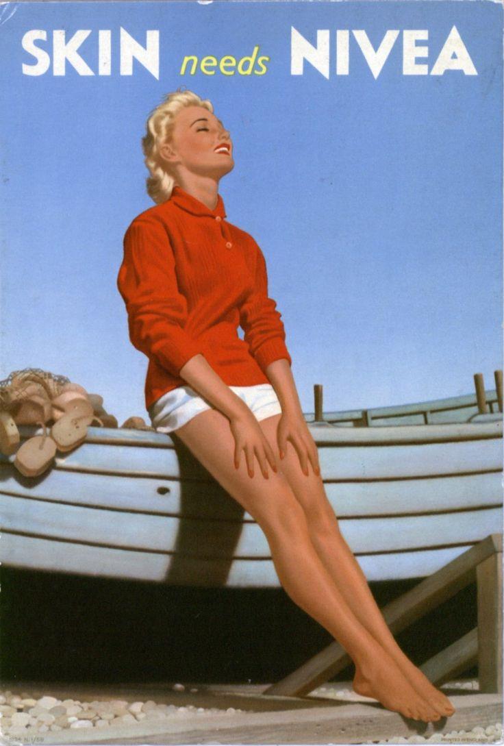 NIVEA poster, UK 1950s