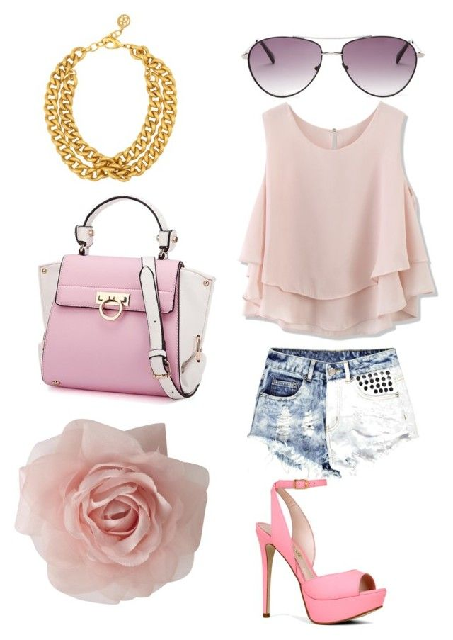 Baby Pink by daria-simic on Polyvore featuring polyvore fashion style Chicwish Boohoo ALDO Oasis Ben-Amun BCBGMAXAZRIA clothing