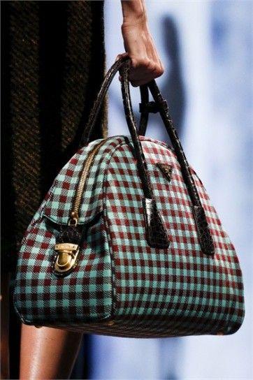 Handbag a quadri Prada Autunno Inverno 2013/2014