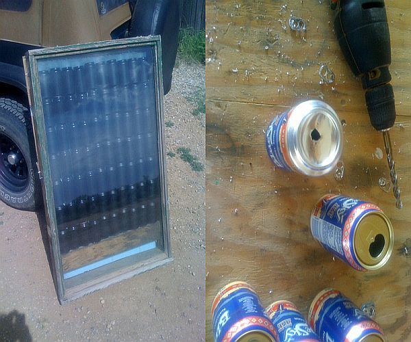 Build your own water slide woodworking projects plans for Make your own solar panels with soda cans