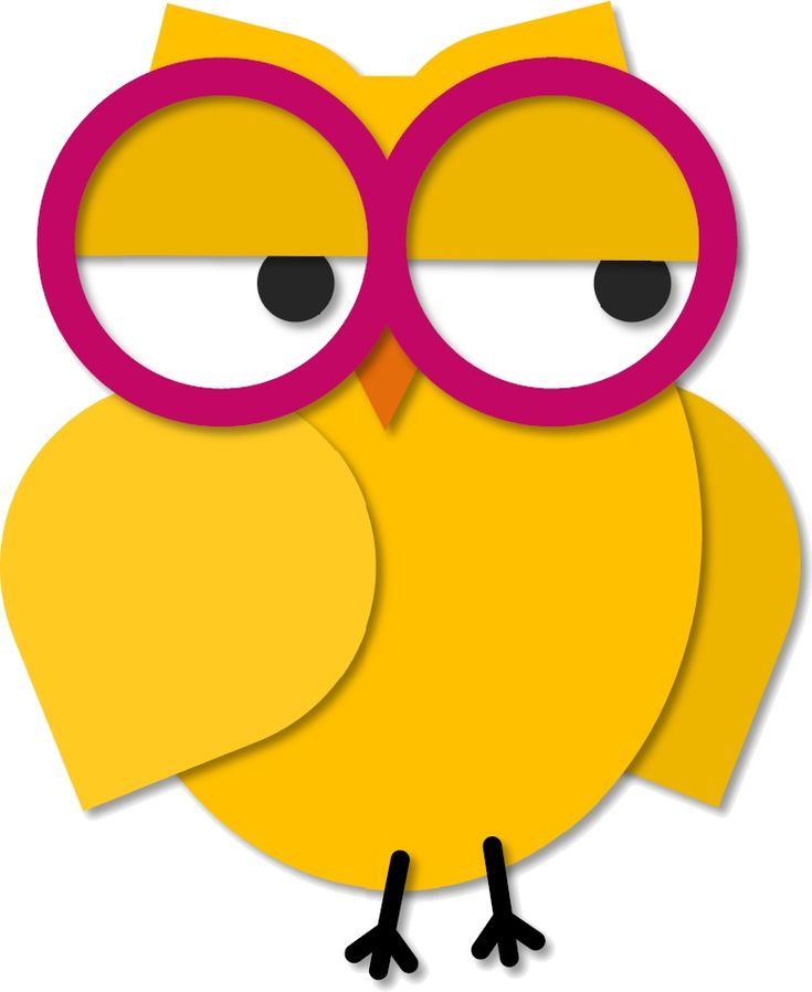 https://flic.kr/p/egWfGA | Owl with Glasses | For you,  Mimi :)  [white background]  Other colours, and a colour-it-yourself version are in THIS set.