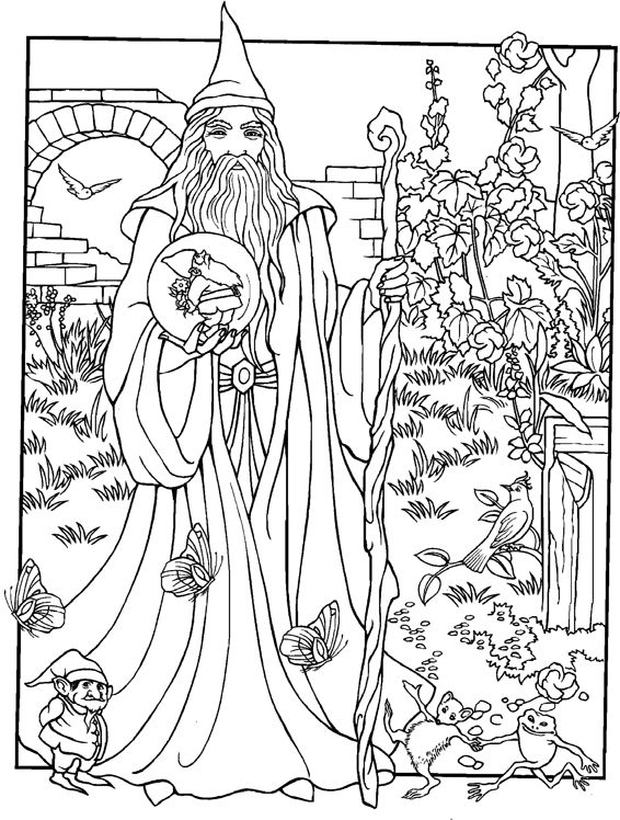 Free Printable Wizard Coloring Pages