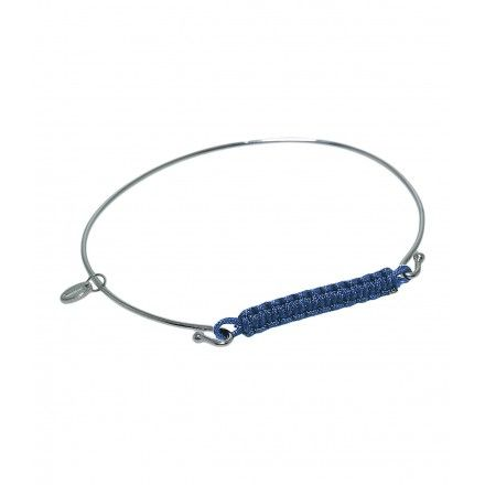 JADA Reina bracelet with navy blue thread