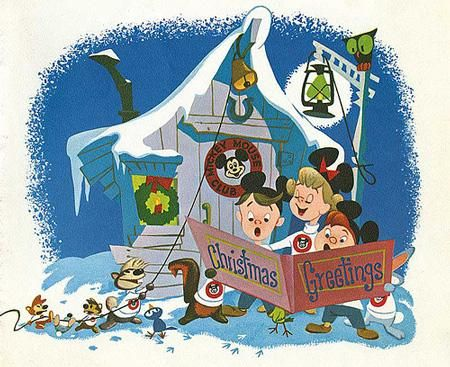 A look a Disney Corporate Christmas cards from years past!