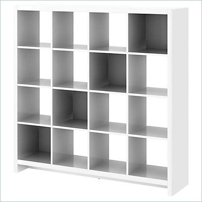 Kathy Ireland By Bush New York Skyline 16 Cube Room Divider Bookcase