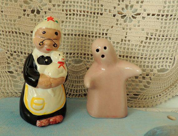 Vintage Ceramic Containers Spices Vintage Ceramic Salt