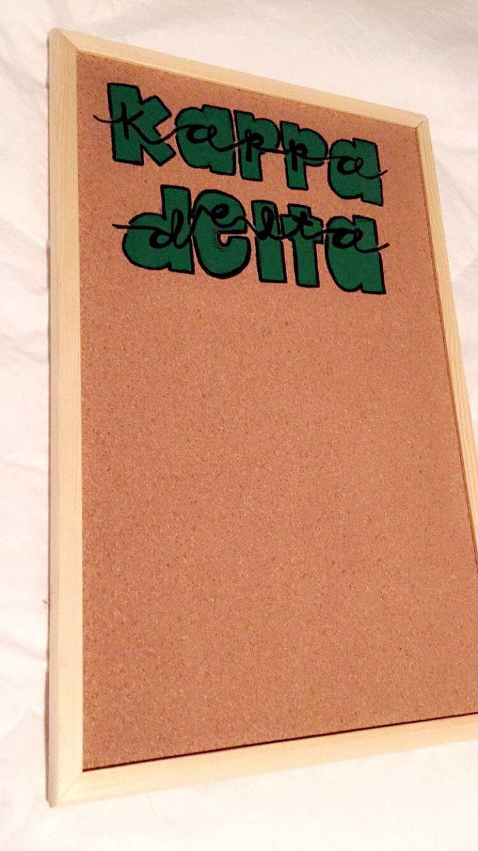 Kappa delta // little crafting // big little // cork board