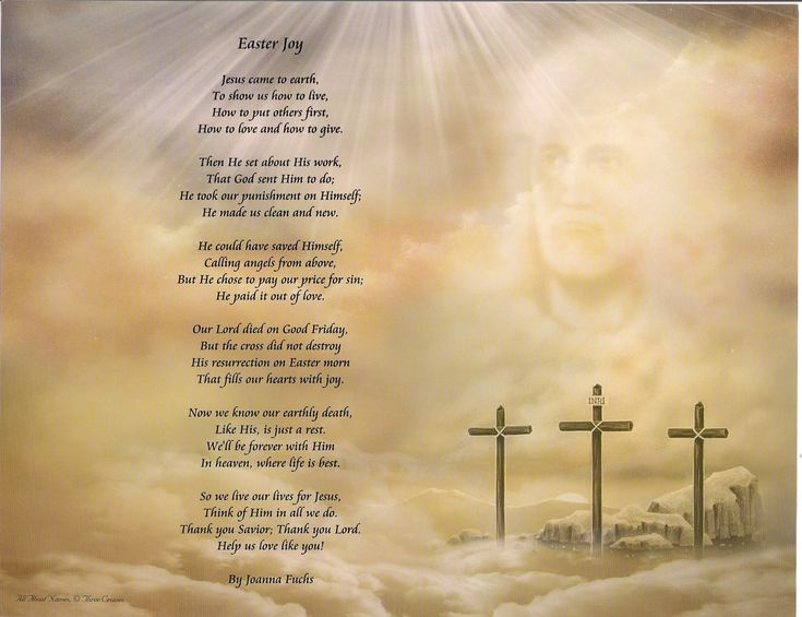 445 best easter images on pinterest easter crafts easter happy easter poems three crosses easter joy poem print with matching mat frame printing negle Images