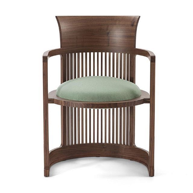 """#FrankLloydWright is known as #America's greatest #modern #architect. """"Wingspread"""", built in 1938-39 is known as the last and the largest of the prarie houses that Wright designed. The home features the living room at the centre of the house, with 4 wings extending from it.  The #Barrelchair was developed especially to suit Wingspread's interiors. Wright believed that """"Every chair must be designed for the building it will be in."""" Wright set himself two challenges with the chair's design…"""