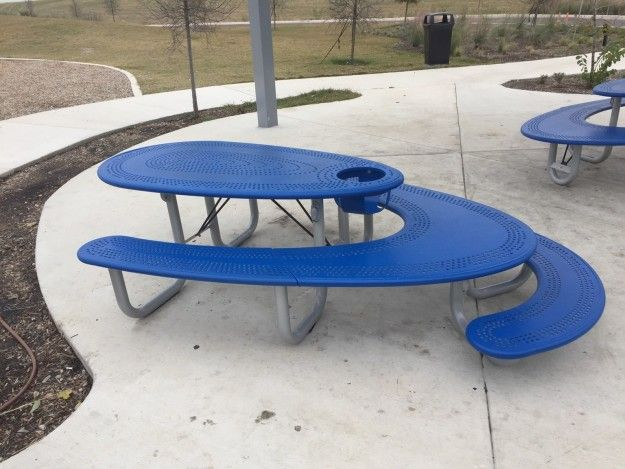 This picnic bench that has seating for small children, for adults, and a high chair. | 24 Times The World Was Almost Too Damn Clever