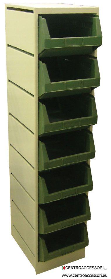 Mobile metallico con cassetti. Metal forniture with drawers #CentroAccessori