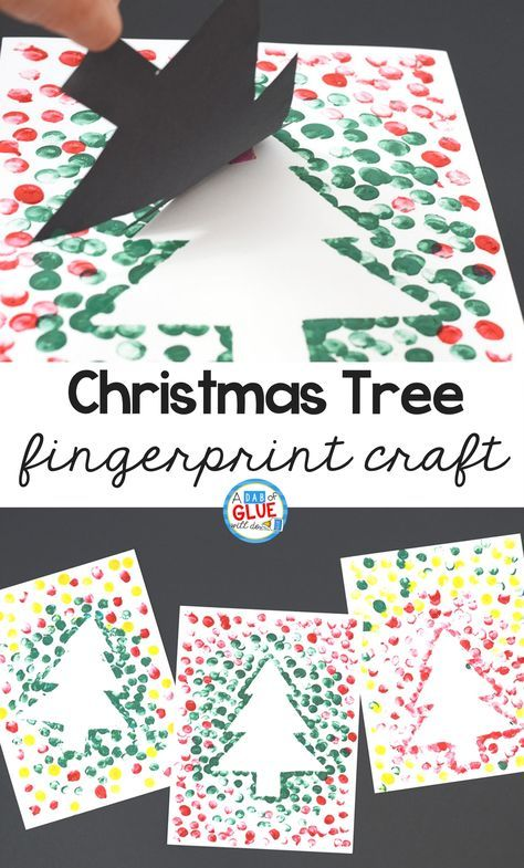 Create this Christmas Tree Thumbprint Art in your kindergarten classroom as your next Christmas craft! It's a fine motor Christmas craft idea for kids.