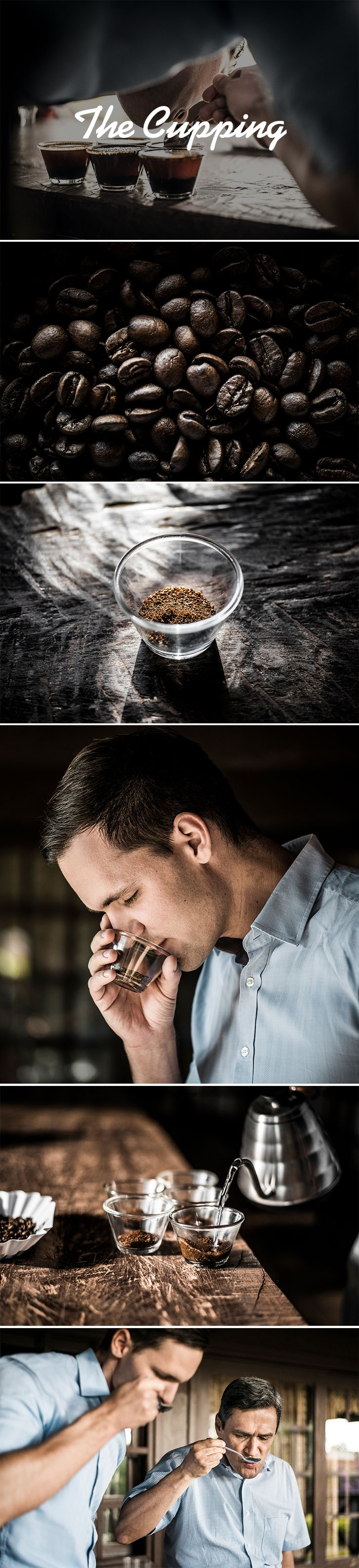 Pick up your spoons! Let's cup some direct trade speciality coffee. It's all about smelling, tasting and slurping. ;)   Do you want to try it? Check out http://www.jhornig.com/shop for our blends and single origin coffees.