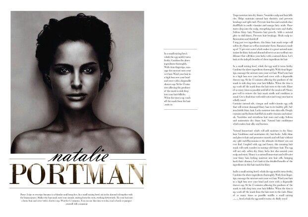 Some of my magazine layout templates _natalie portman