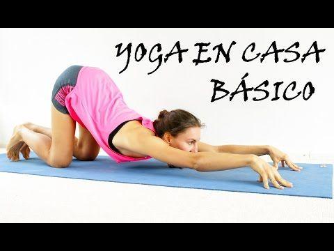 Yoga para principiantes básico | Todo cuerpo día 1 - YouTube