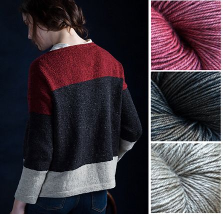 Kettle Yarn Co. BEYUL - Monk's Robe, Black Quarz & Yurt for Brooklyn Tweed's Agnes