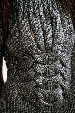 Closer look at the beautiful details -  Brasil Tricô & Crochê - Handmade: Divina peça de tricô- blusão