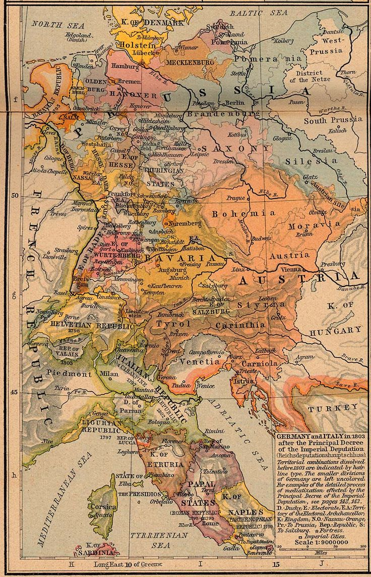 """""""Germany and Italy in 1803"""": yet, neither country existed as such at that time, both achieving unity and statehood in the second half of the century."""