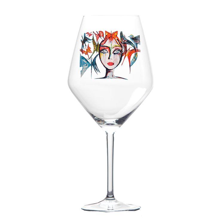 Rödvinsglas - SLICE OF LIFE - 249kr! Ska finnas på Cervera, annars går det att beställa från hemsidan som bilden länkar till.