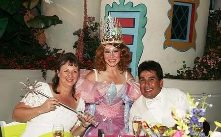 Glinda at a reception in the Wizard of Oz section of The Great Movie Ride at Disney's Hollywood Studios | Magical Day Weddings | A Wedding Atlas Fan Site for Disney Weddings