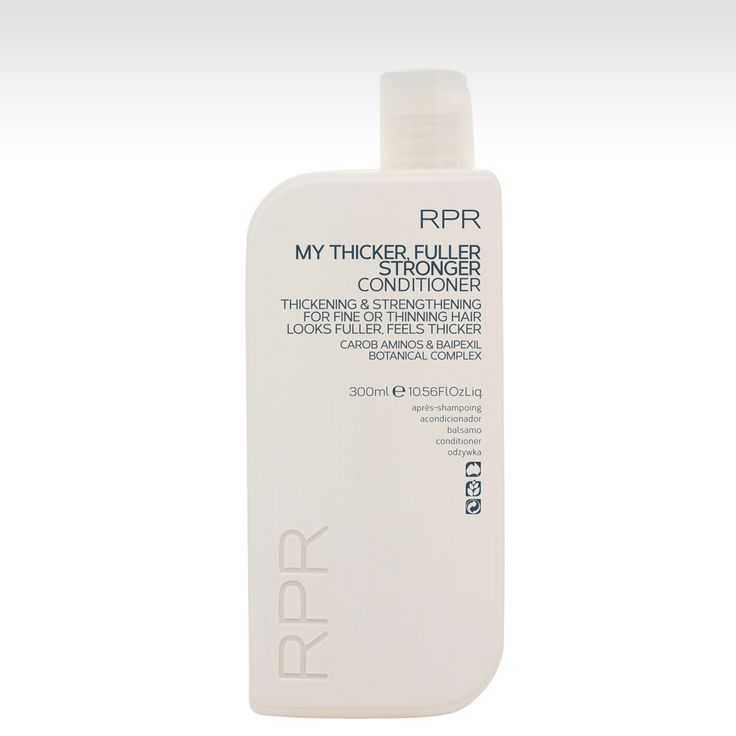 RPR My Thicker Fuller Stronger Conditioner - Thickening & Strengthening for fine or thinning hair.  With Carob Aminos & Baipexil Botanical Complex