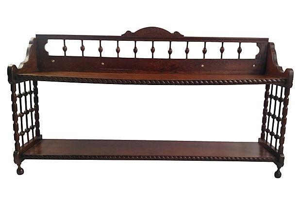 Victorian Ball Amp Stick Oak Wall Shelf Oak Wall Shelves