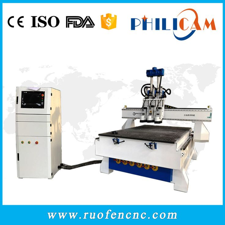 The 3 heads atc cnc router machine could engrave and cut wood, mdf to make furnutire