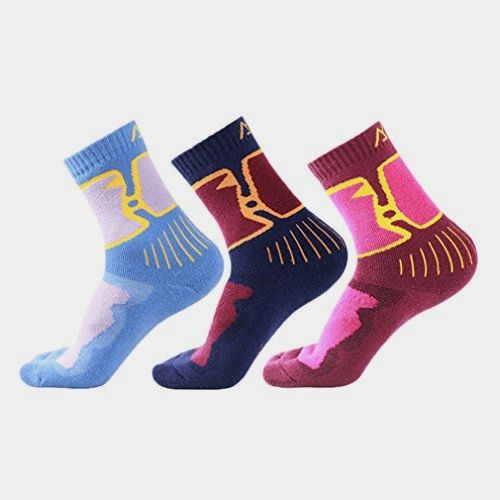 Kalily Women's #Winter Warm MERINO WOOL Socks - Pack of 3 Pairs () Made by #Kalily Color #Multi. Brand new range of themal Merino Wool Socks. Soft, warm, breathable and #Super Comfort. Reinforced Toe and Heel with arch support. Mid-weight to Heavy socks. Flap for Anti-Slip & Easy Pull Up - Stops socks slipping down and offers finger grip. Ease your foot fatigue when walking, hiking, camping, running or jogging
