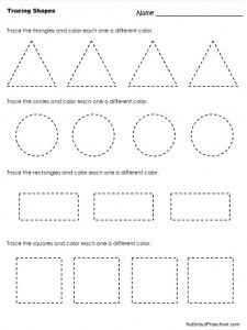 Worksheets Tracing Shapes Worksheets 1000 ideas about shapes worksheets on pinterest learning tracing worksheet