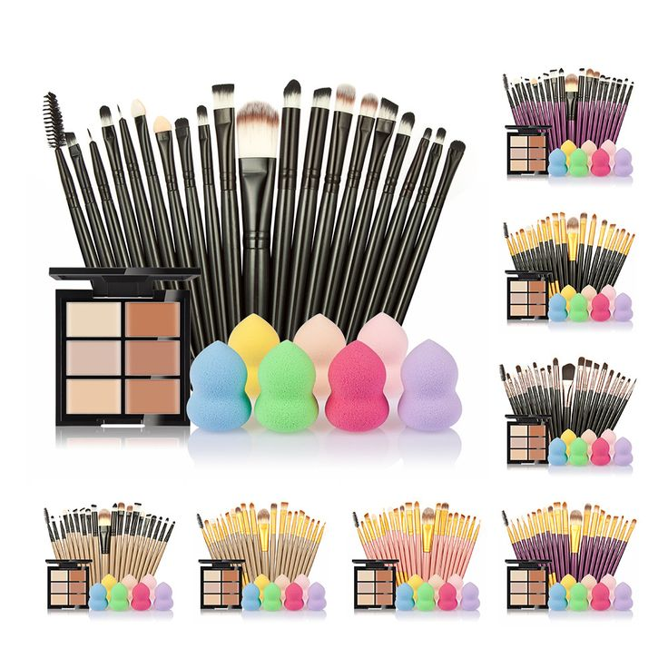 makeup brushes Set 6 Colors Concealer Palette maquiagem Puff 20 brushes Face Contour Cosmetic Make Up Tools Brushes for make-up //Price: $17.24 & FREE Shipping //     #GAMES