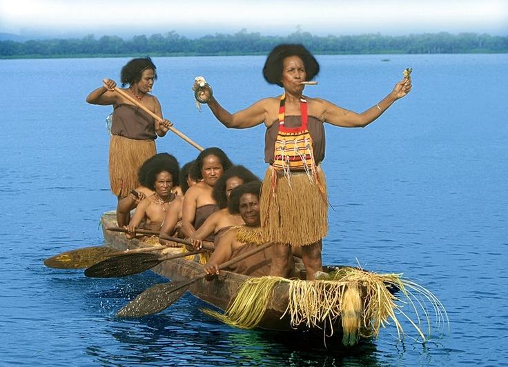 Sentani Woman Boat