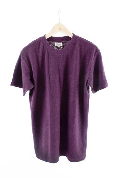 RCM CLOTHING / T-SHIRT BASIC   PURPLE  Sustainable Hemp Apparel, 55% hemp 45% organic cotton jersey http://www.rcm-clothing.com/