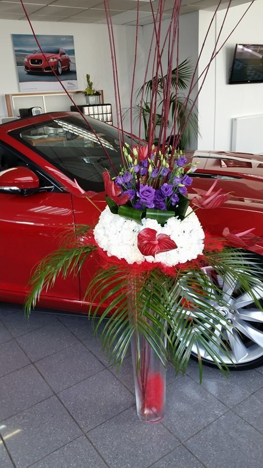 Flowers by The Rose House at the new Pentland Jaguar launch at the weekend. #flowers