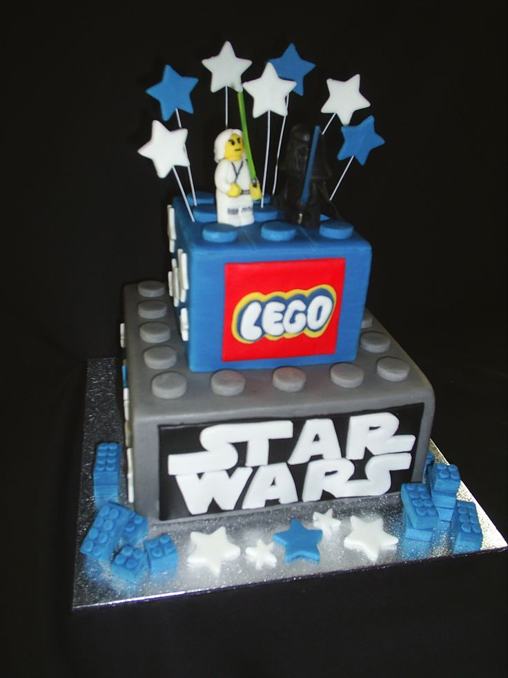 Lego Star Wars - This is actually made from cake dummy's. It was made for a friend's son, who has multiple food intolerances and allergies, there's not much he can eat. So I made him a cake that he doesn't have to watch everyone else eating and enjoying when he can't!   He loves star wars, and has just been to Legoland , so what better theme than lego star wars! He loved this cake very much, I loved that he loved it too :-)
