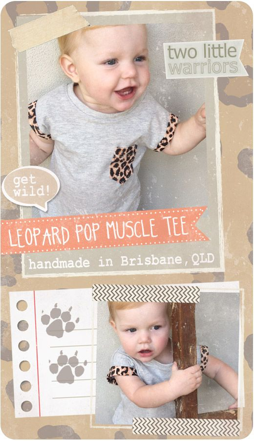 Two Little Warriors Leopard Pop Children's Muscle Tee