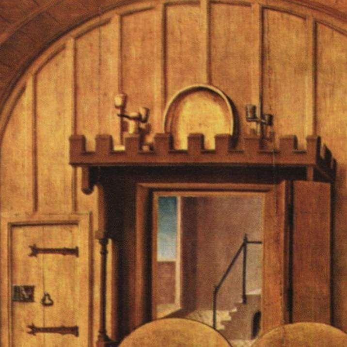 Passionsaltar, linker Flügel außen: Fußwaschung, 1475