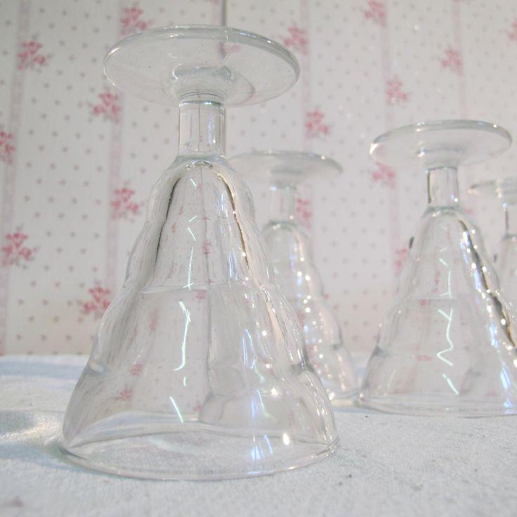 5 verres DURALEX vintage 6 verres à porto et liqueur - verre bistrot à vin 60s -  verre à alcool, verres vintage Made in France de la boutique CrazyFrenchVintage sur Etsy