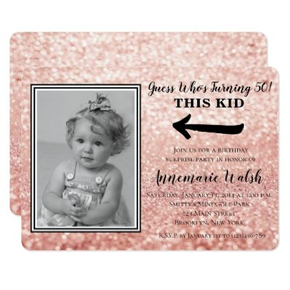 Old Photo Surprise Birthday Party Invitations - rose style gifts diy customize special roses flowers
