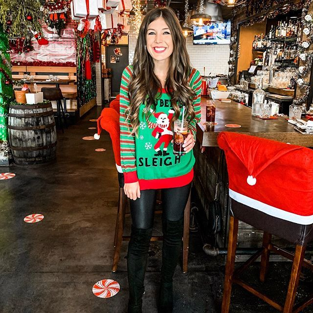 Tacky Sweater In Christmas Bar In 2020 Fashion Tacky Sweater Tacky Christmas Sweater
