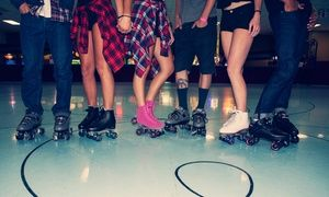 Groupon - Roller-Skating Plus Skate Rental for Two, Four, or Six or Beginners Skate Classes (Up to 50% Off)   in Fountain Valley Skating Center. Groupon deal price: $16