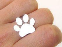 perro / gato / animal / anillo de plata de la pata
