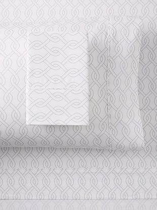 60% OFF Blissliving Home Link Sheet Set (White/Glacier Grey)