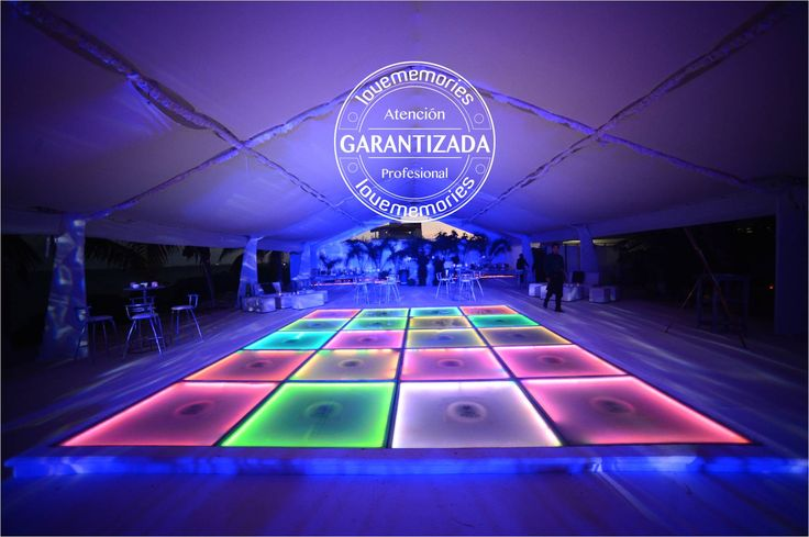 25 modules lit dance floor Ocean Events #Cancun
