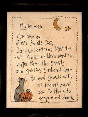 Christian Halloween poem