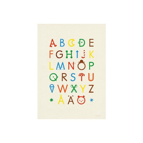 Fine Little Day-Stylish Wall Posters- ABC