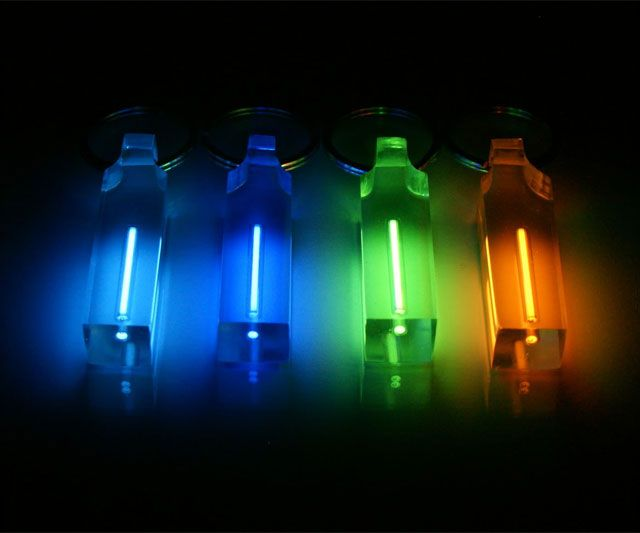Tritium Keychains | DudeIWantThat.com