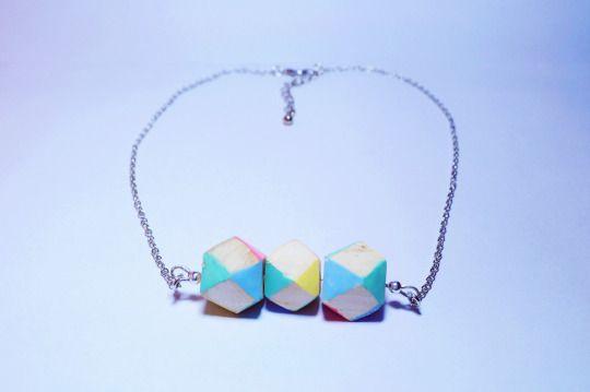 Lab124: collana in legno di abete lavorato a mano #wood #beads #diy #necklace #tumblr #pastel #wooden #handmade #crafts #legno
