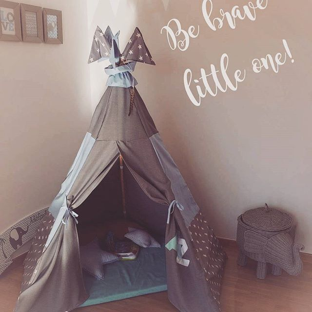Be brave little one 💪⛺ #teepee #teepeelicious #teepeelovers #handmade #happykids #customade #boysroomdecor #barnrumsinspo #barnrum #kidsgoods #kidsroomdecor #kidsroominspo #kidsroom
